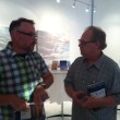 Chadd VanZanten chats with Stevan Allred, who traveled to Utah for last night's book launch event.